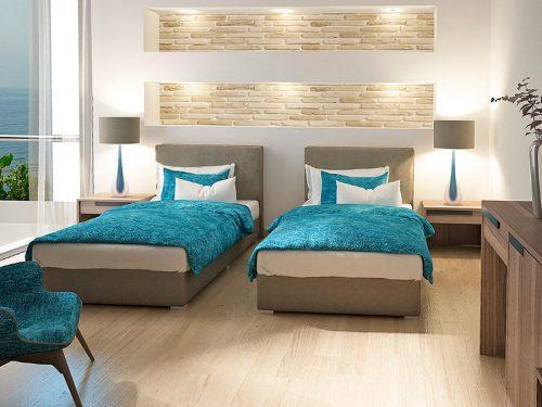 Ντυμένα μονά κρεβάτια