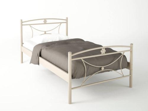 Μεταλλικό μονό κρεβάτι ΜΑΡΓΑΡΙΤΑ με στρώμα