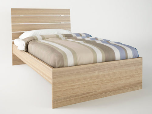 Ξύλινο μονό κρεβάτι ΑΡΙΑ με στρώμα